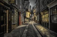Straße der heillose Durcheinander in York, England lizenzfreie stockfotos