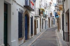 Straße in der historischen Mitte lizenzfreie stockbilder