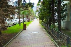 Straße der Küstenstadt lizenzfreie stockfotos