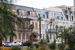 Straße in der Mitte von Batumi Stockbild