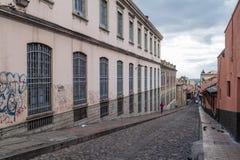 Straße in der Mitte von Bogota lizenzfreie stockbilder