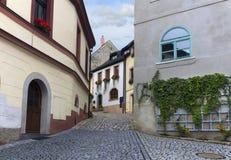 Straße in der mittelalterlichen Stadt Stockbilder