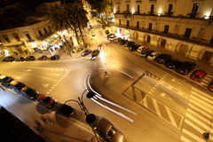 Straße der Nachtstadt Lizenzfreie Stockfotos