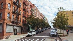 Straße in der oberen Ostseite lizenzfreies stockbild