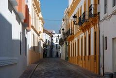 Straße in der spanischen Stadt Stockfotografie