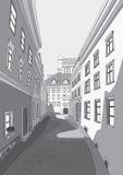 Straße der Stadt stock abbildung