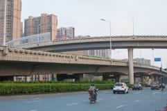 Straße in der Stadt Stockfotografie