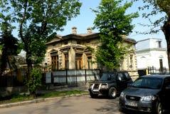 Straße in der Stadt Braila, Rumänien Stockbilder