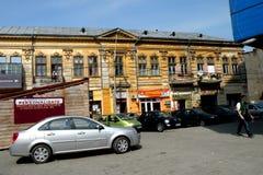 Straße in der Stadt Braila, Rumänien Lizenzfreies Stockfoto