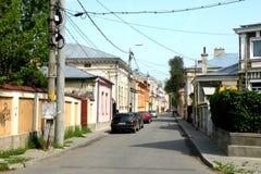 Straße in der Stadt Braila, Rumänien Lizenzfreie Stockfotografie