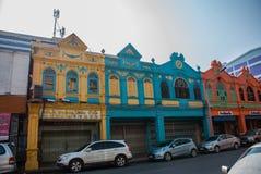 Straße in der Stadt Hatyai thailand lizenzfreie stockbilder