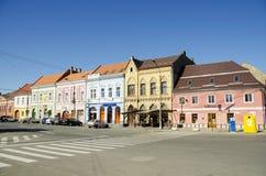 Straße in der Stadt von fagaras Stockbild