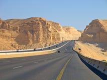 Straße in der Wüste Stockfoto