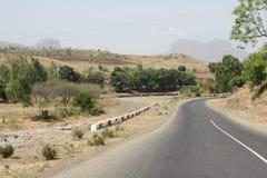 Straße in der Wüste Lizenzfreies Stockbild