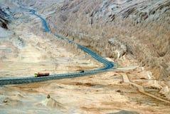 Straße in der Wüste, Chile lizenzfreies stockbild