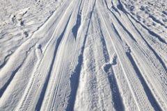 Straße in der Wintersaison Stockfotografie