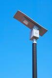 Straße des hellen Pfostens der Solarenergie Lizenzfreies Stockfoto
