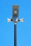Straße des hellen Pfostens der Solarenergie Stockfotos