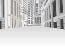 Straße des im Stadtzentrum gelegenen Finanzbezirkes Lizenzfreie Stockbilder