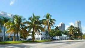 Straße des Miami Beachs stock video