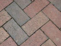 Straße des roten Backsteins für Hintergrund lizenzfreie stockfotos