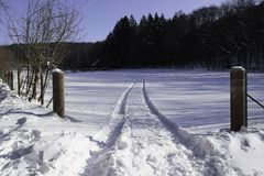 Straße des Schnees Stockbild
