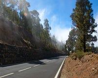 Straße in die Berge Stockfoto