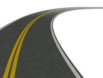 Straße, die in die Kurve führt Lizenzfreies Stockfoto
