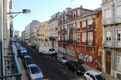 Straße DOS Anjos Portugals, Lissabon Rua Stockbild