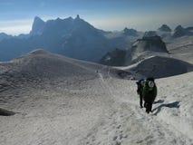 Straße drei Monts zu Mont Blanc 4810m Stockfotos