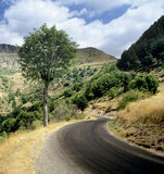 Straße durch Berge lizenzfreies stockfoto