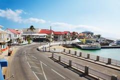 Straße durch George Town Lizenzfreies Stockfoto