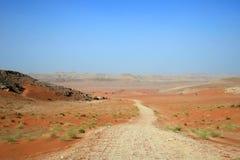 Straße durch Wüste Stockbild