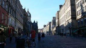 Straße in Edinburgh lizenzfreies stockfoto