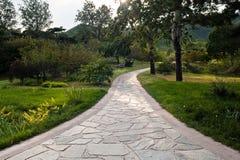 Straße in einem Garten Lizenzfreie Stockfotos