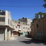 Straße Emek Hebron, verlassene Gebäude Stockbild