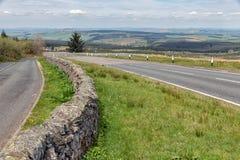 Straße entlang Carter Bar, Grenze zwischen England und Schottland stockbild