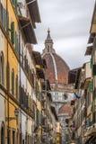 Straße in Florenz, Italien Stockbilder