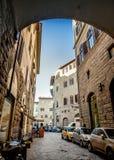 Straße in Florenz, Italien Lizenzfreies Stockbild