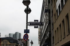 Straße in Frankfurt am Main Stockbilder