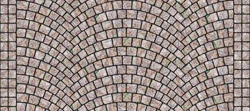 Straße gebogene Kopfsteinbeschaffenheit 046 Stockbild