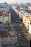 Straße Gediminas Prospektas Stockbilder