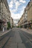 Straße in Geneve Lizenzfreies Stockfoto