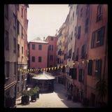 Straße in Genua Stockbild