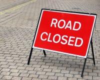 Straße geschlossen Stockfotos