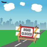 Straße geschlossen Lizenzfreies Stockbild