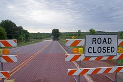 Straße geschlossen lizenzfreie stockfotografie