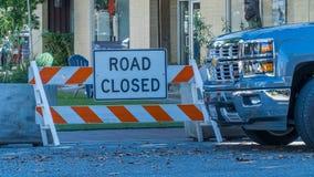 Straße geschlossen Lizenzfreies Stockfoto