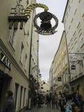 Straße getreidegasse Lizenzfreie Stockfotografie