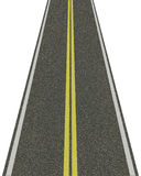 Straße getrennt auf Weiß lizenzfreie abbildung